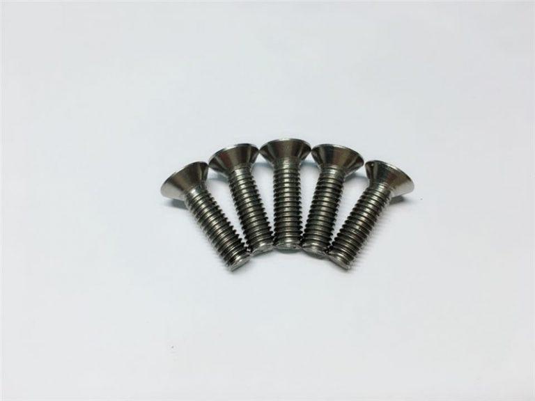 M3, M6 titāna skrūves plakanas galvas ligzdas galvas vāciņš titāna atloku skrūves mugurkaula operācijām