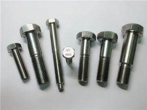 Nr.25-Incoloy a286 sešstūra skrūves 1.4980 a286 stiprinājumi gh2132 nerūsējošā tērauda aparatūras mašīnu skrūvju stiprinājumi