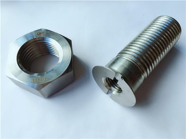 pielāgota oglekļa tērauda metāla aparatūras sliežu skrūve un uzgrieznis