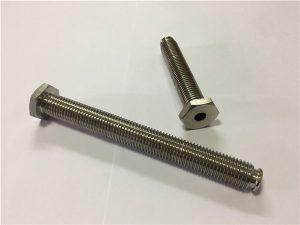 Nr.64-Dobs titāna stiprinājums ar cauri caurumu titāna sakausējumu 6Al4V Trauku galvas sešstūra atslēga