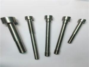 Pielāgoti Phillips rievotas cilindriskas galvas dībeļa stieņa tapas stiprinājumi ar caurumu