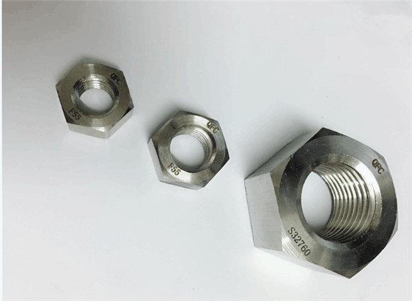duplex 2205 / f55 / 1.4501 / s32760 nerūsējošā tērauda stiprinājumi smagais sešstūra uzgrieznis m20